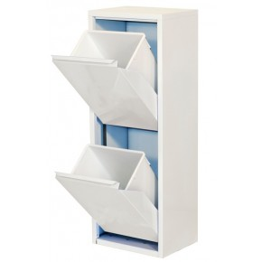 Simon Rack Armoire 2 seaux color blanc blanc