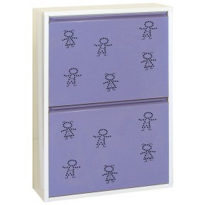 Simon Rack Armoire 4 seaux child blanc violet
