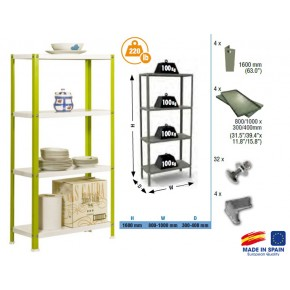Simon Rack Homeclassic color mini 4-400 blanc vert