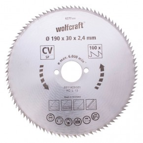Wolfcraft - 1 Lame scie circulaire CV 80dts Ø127x12.75mm - 6255000