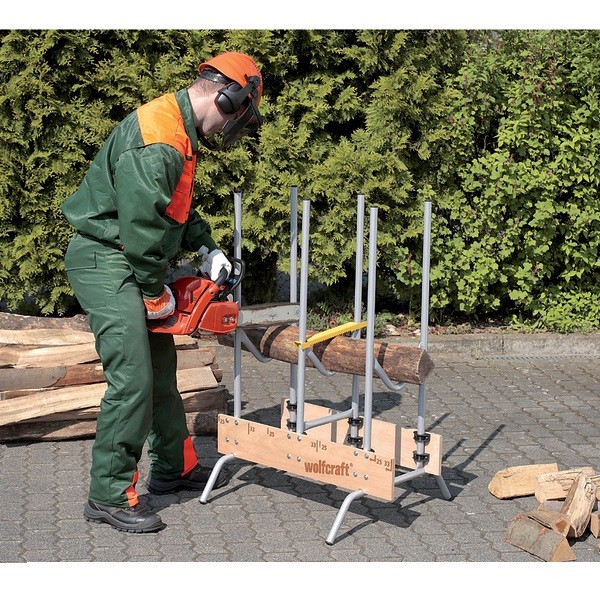 Wolfcraft 5121000 rangement b ches outillage for Chevalet pour buches bois
