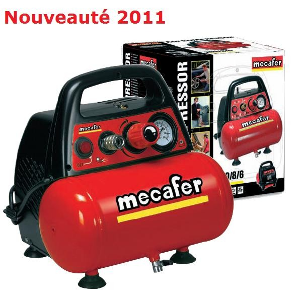 Mecafer 425528 compresseur air outillage - Compresseur d air portatif ...