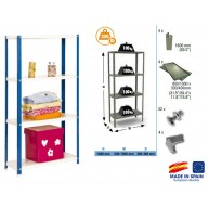 Simon Rack Homeclassic color mini 4-400 blanc bleu